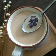 紫薯芋圆红茶