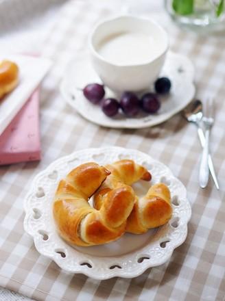豆沙牛角面包#美的嵌入式烤箱#的做法