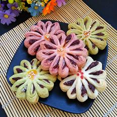 彩色菊花酥