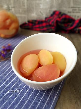 糖水桃子的做法