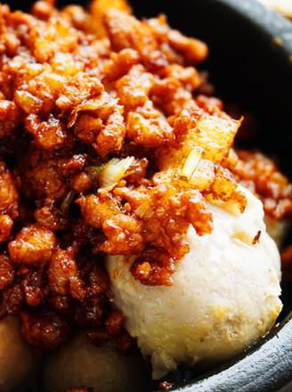 石锅炸酱芋头的做法