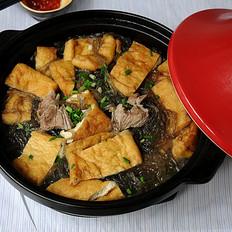 红薯粉丝豆腐煲的做法[图]
