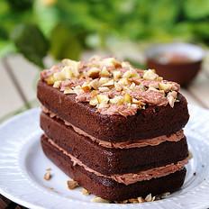 黑巧克力板栗蛋糕