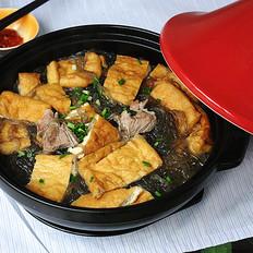红薯粉豆腐煲的做法[图]
