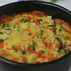 #热门小吃#蔬菜披萨