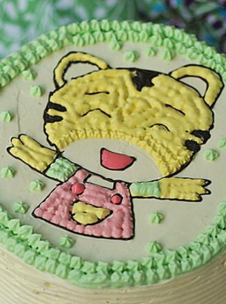 打印小老虎蛋糕的做法(美食杰)