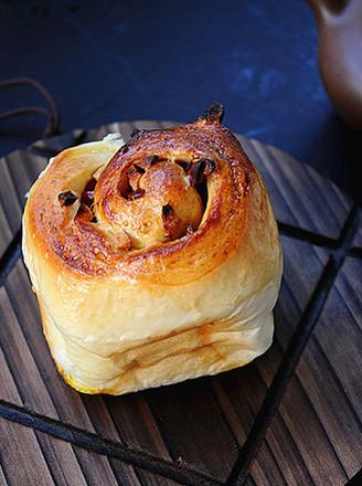 红糖枣丁面包卷