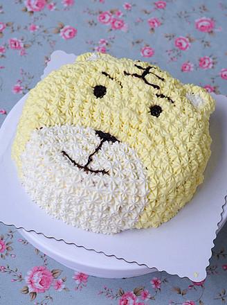 打印萌哒哒的老虎蛋糕的做法(美食杰)