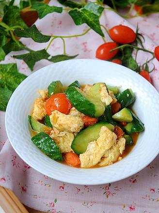春色满园——黄瓜炒鸡蛋的做法