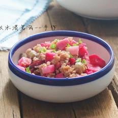 肉末炒泡萝卜丁