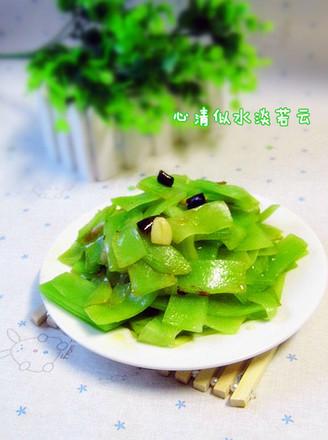 炝炒莴笋的做法