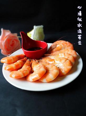 白灼鲜虾的做法