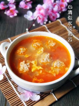 番茄丸子汤