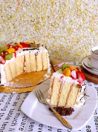 水果奶油漩涡蛋糕(木糖醇版)的做法
