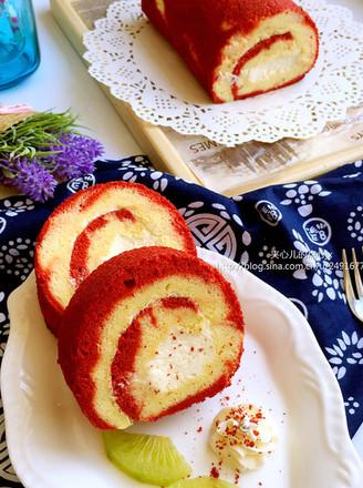 红丝绒渐变蛋糕卷的做法