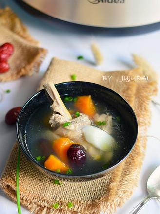 胡萝卜淮山炖鸡汤#美的原生态AH煲#的做法