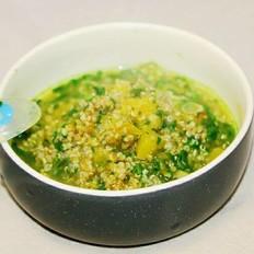 藜麦蔬菜粥 宝宝辅食,南瓜+菠菜叶+茼蒿叶