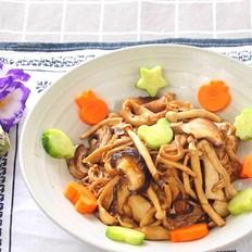 烤菌菇 宝宝辅食,香菇+海鲜菇+口蘑+金针菇+杏鲍菇