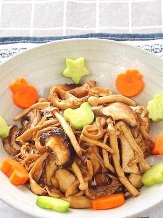 烤菌菇 宝宝辅食,香菇+海鲜菇+口蘑+金针菇+杏鲍菇的做法