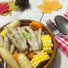 玉米鸡爪袪湿汤