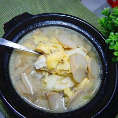 杏爆菇鸡蛋汤