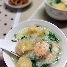 小米荠菜虾仁粥