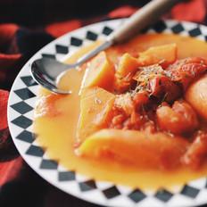 胡萝卜炖番茄汤