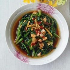 剁椒拌菠菜