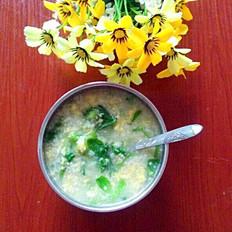 小米青菜鸡蛋粥