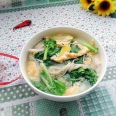 金针白菜蛋汤