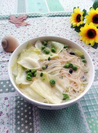 豆豉素汤面的做法