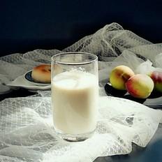 蜜桃牛奶饮