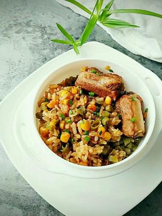 豆角排骨焖饭的做法