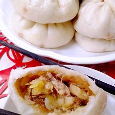 #山东小吃#卷心菜酱肉包子