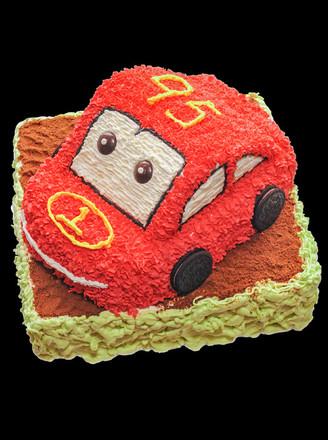 闪电麦昆生日蛋糕