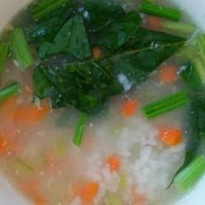 蔬菜瘦肉粥