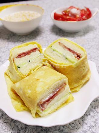 蛋包三明治的做法【步骤图】_菜谱_美食杰