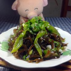 青椒炒海带