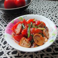 番茄炒草菇