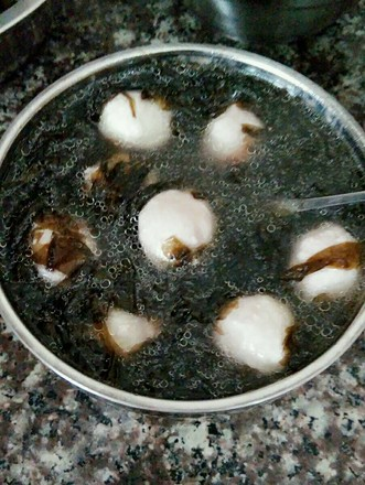 紫菜肉丸汤的做法