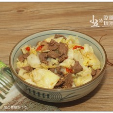 辣炒牛肉 加点辣椒好下饭的做法[图]