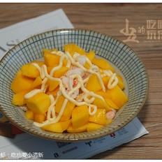 沙拉芒果虾:小清新