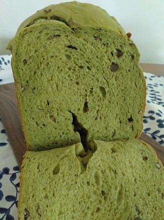 抹茶红豆吐司(面包机版)的做法