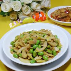雷笋炒毛豆