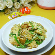 尖椒榨菜炒鸭蛋