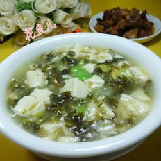 雪菜蚕豆豆腐羹
