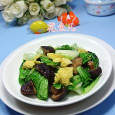 香菇鸡蛋炒奶白菜
