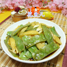 扁豆炒茭白