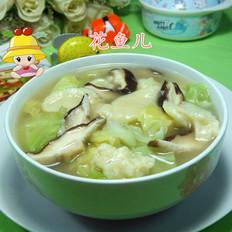 浓汤宝香菇圆白菜面疙瘩