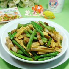 腐竹五花肉炒梅豆的做法[图]